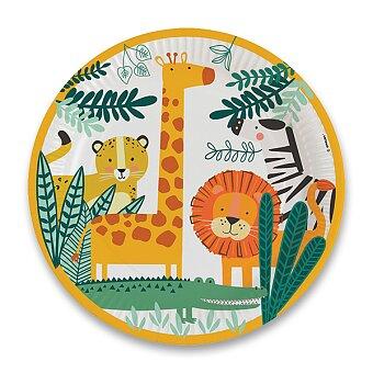Obrázek produktu Papírové talířky Get Wild - průměr 22,8 cm, 8 ks