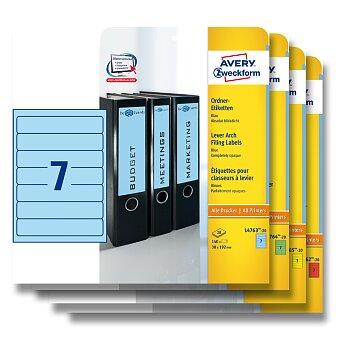 Obrázek produktu Samolepící štítky na pořadače Avery Zweckform - 192 x 38 mm, 140 ks, výběr barev