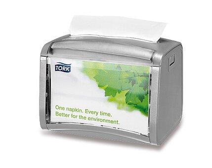 Obrázek produktu Stolní zásobník na ubrousky Tork Xpressnap - světle šedý, 155 x 150 x 201 mm