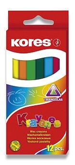 Obrázek produktu Voskovky Kores Krayones - 12 barev, trojhranné