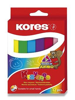 Obrázek produktu Voskovky Kores Krayones Jumbo - 12 barev, trojhranné