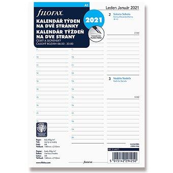 Obrázek produktu Týdenní kalendář 2021 - náplň k diářům Filofax A5