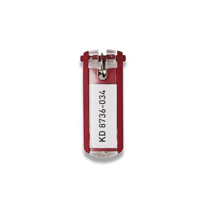 Obrázek produktu Durable Key Clip - jmenovka na klíče - červená