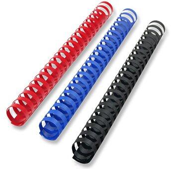 Obrázek produktu Plastové hřbety pro kroužkové vazače - 25 mm, max. 240 listů, 50 ks, výběr barev