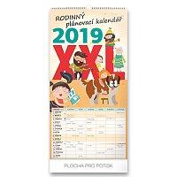 Nástěnný rodinný plánovací kalendář XXL