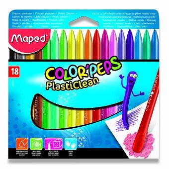 Obrázek produktu Plastové pastely Maped Color'Peps Plasticlean - 18 barev