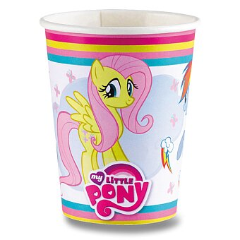 Obrázek produktu Papírové kelímky My Little Pony Rainbow - objem 0,25 l, 8 ks