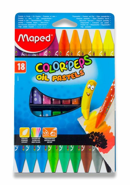 Olejové pastely Maped Color'Peps Oil Pastels 18 barev, trojhranné