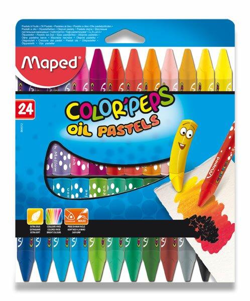 Olejové pastely Maped Color'Peps Oil Pastels 24 barev, trojhranné