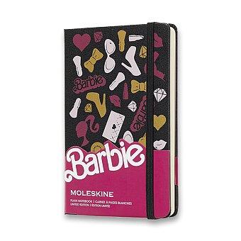 Obrázek produktu Zápisník Moleskine Barbie - tvrdé desky - S, čistý, Doplňky