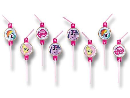 Obrázek produktu Brčka My Little Pony Rainbow - 8 ks