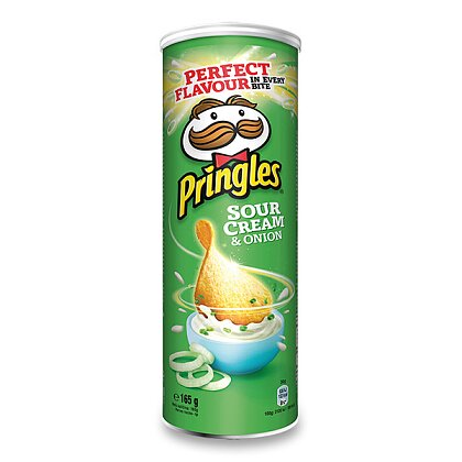 Product image Pringles - chips - Cream and onion, 165 g