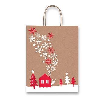 Obrázek produktu Dárková taška Fantasia Snowflakes - různé rozměry