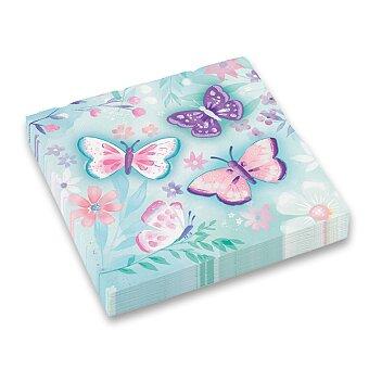 Obrázek produktu Papírové ubrousky Flutter - 33 x 33 cm, 16 ks