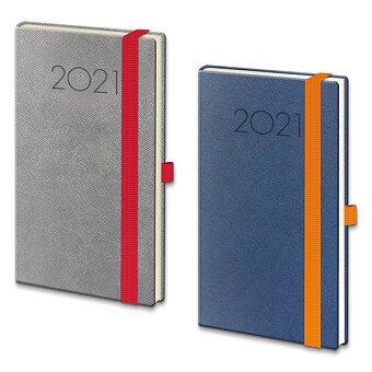 Obrázek produktu Týdenní diář Helma New Praga 2021 - modrý