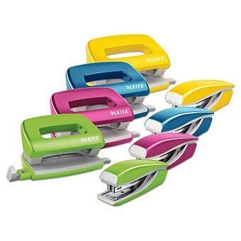 Obrázek produktu Mini set sešívačky a děrovačky Leitz Wow - výběr barev