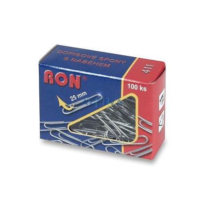Obrázek produktu RON - kancelářské sponky s náběhem - 25 mm, 100 ks