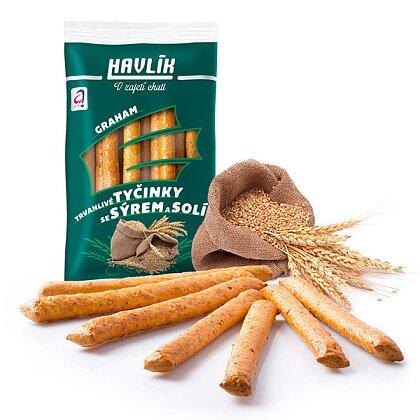 Obrázek produktu Havlík - tyčinky se sýrem a solí - Graham, 90 g