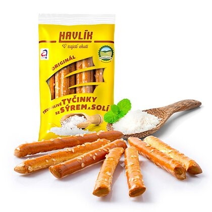 Product image Havlik - breadsticks with cheese and salt - Original, 90 g