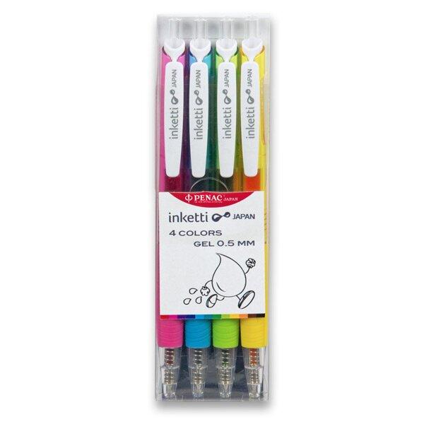 Roller Penac Inketti sada 4 barev (růžová, žlutá, sv. modrá a sv.zelená)