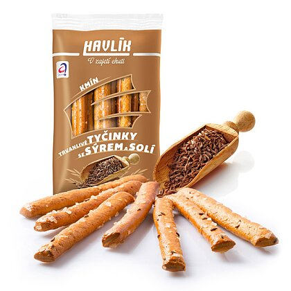 Product image Havlik - breadsticks with cheese and salt - Cumin, 90 g