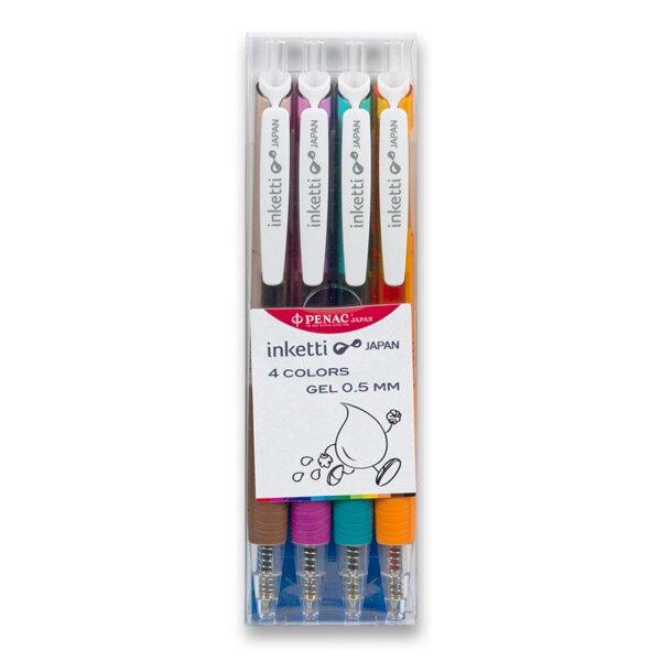 Roller Penac Inketti sada 4 barev (oranžová, hnědá, levandulová, tyrkysová)
