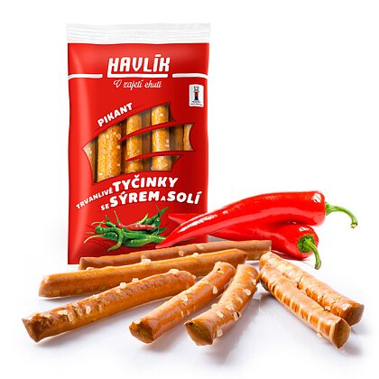 Product image Havlik - breadsticks with cheese and salt - Pikant, 90 g