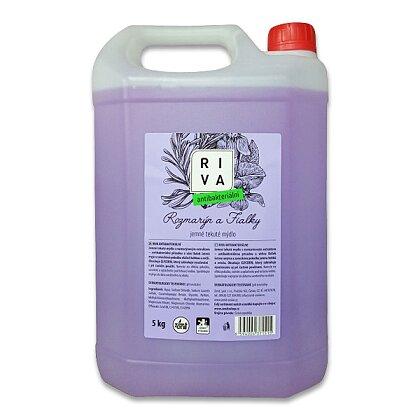 Obrázek produktu Riva - antibakteriální tekuté mýdlo - rozmarýn a fialky, 5 l