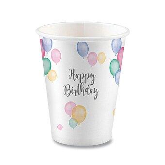 Obrázek produktu Papírové kelímky Happy Birthday - objem 0,25 l, 8 ks