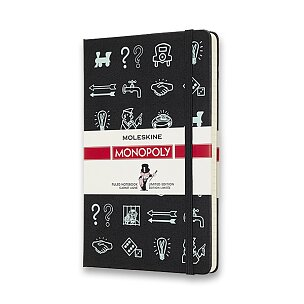 Zápisník Moleskine Monopoly - tvrdé desky