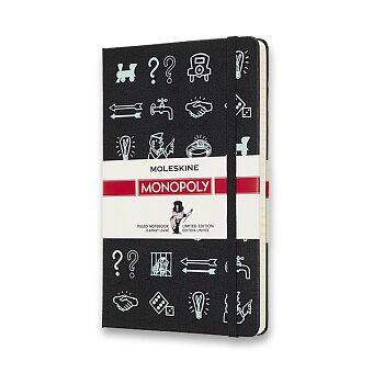 Obrázek produktu Zápisník Moleskine Monopoly - tvrdé desky - L, linkovaný, Ikony