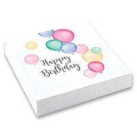 Papírové ubrousky Happy Birthday