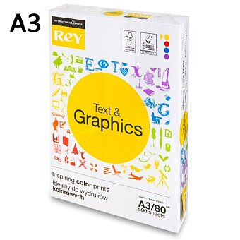 Obrázek produktu Kancelářský  papír Rey Text & Graphics - A3, 80 g, 500 listů