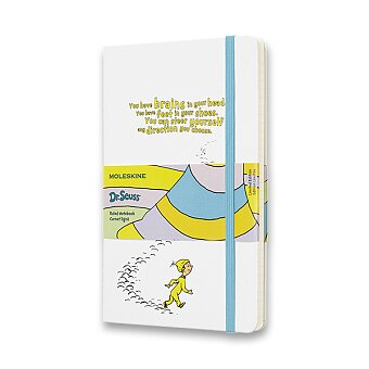 Obrázek produktu Zápisník Moleskine Dr. Seuss - tvrdé desky - L, linkovaný, bílý