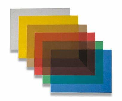 Obrázek produktu Přední strana transparentní pro kroužkový vazač A4 - A4, 0,2 mm, 100 ks, výběr barev