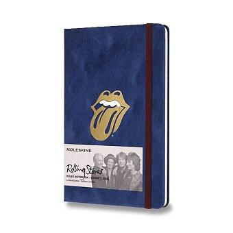 Obrázek produktu Zápisník Moleskine Rolling Stones - tvrdé desky - L, linkovaný, modrý