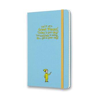 Obrázek produktu Zápisník Moleskine Dr. Seuss - tvrdé desky - L, linkovaný, modrý