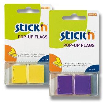 """Obrázek produktu Neonové proužky """"Z"""" Hopax Stick´n Pop-Up Flags - plast, 45 x 25 mm, 50 ks, výběr barev"""