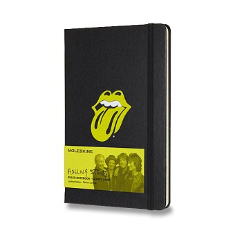 Obrázek produktu Zápisník Moleskine Rolling Stones - tvrdé desky - L, linkovaný, černý