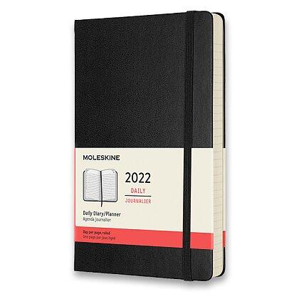 Obrázek produktu Moleskine 2022 - diář v tvrdých deskách - velikost L, denní, černý