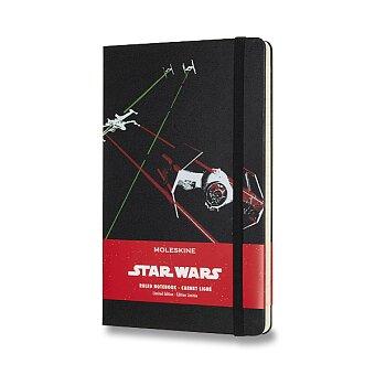 Obrázek produktu Zápisník Moleskine Star Wars - tvrdé desky - L, linkovaný, Lodě