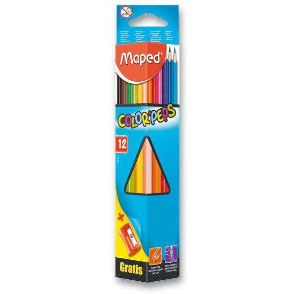 Pastelky Maped Color'Peps 12 barev + ořezávátko