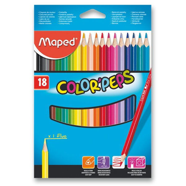 Pastelky Maped Color'Peps 18 barev