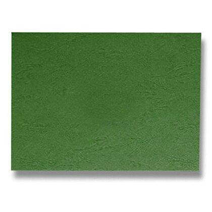 Obrázek produktu Zadní strana pro kroužkový vazač - A4, 240 g/m, 100 ks, imitace kůže, zelená
