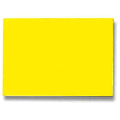 Obrázek produktu Zadní strana pro kroužkový vazač - A4, 250 g/m, 100 ks, leštěná žlutá