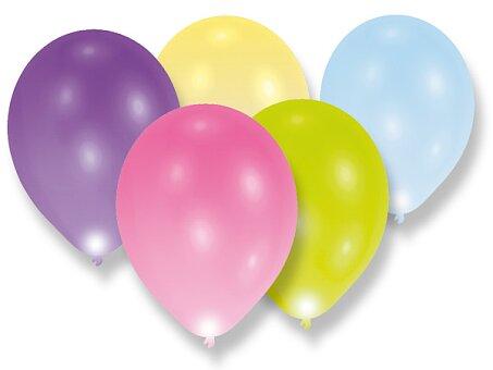 Obrázek produktu Nafukovací LED balónky - pastelové - 5 ks