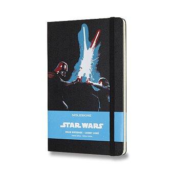 Obrázek produktu Zápisník Moleskine Star Wars - tvrdé desky - L, linkovaný, Duel