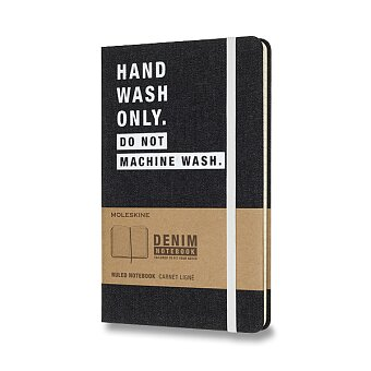 Obrázek produktu Zápisník Moleskine Denim - tvrdé desky - L, linkovaný, Hand Wash Only