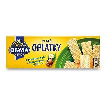 Obrázek produktu Opavia Zlaté Oplatky - lískooříškové, 146 g