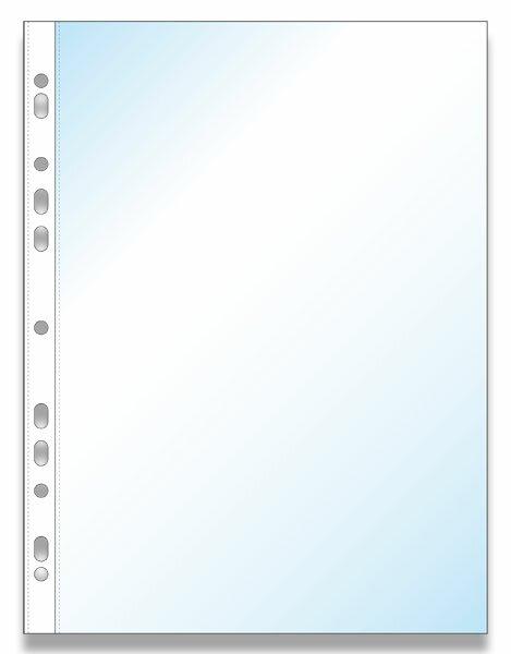 Zakládací obal Economy U A4, 100 ks transparentní, čirý